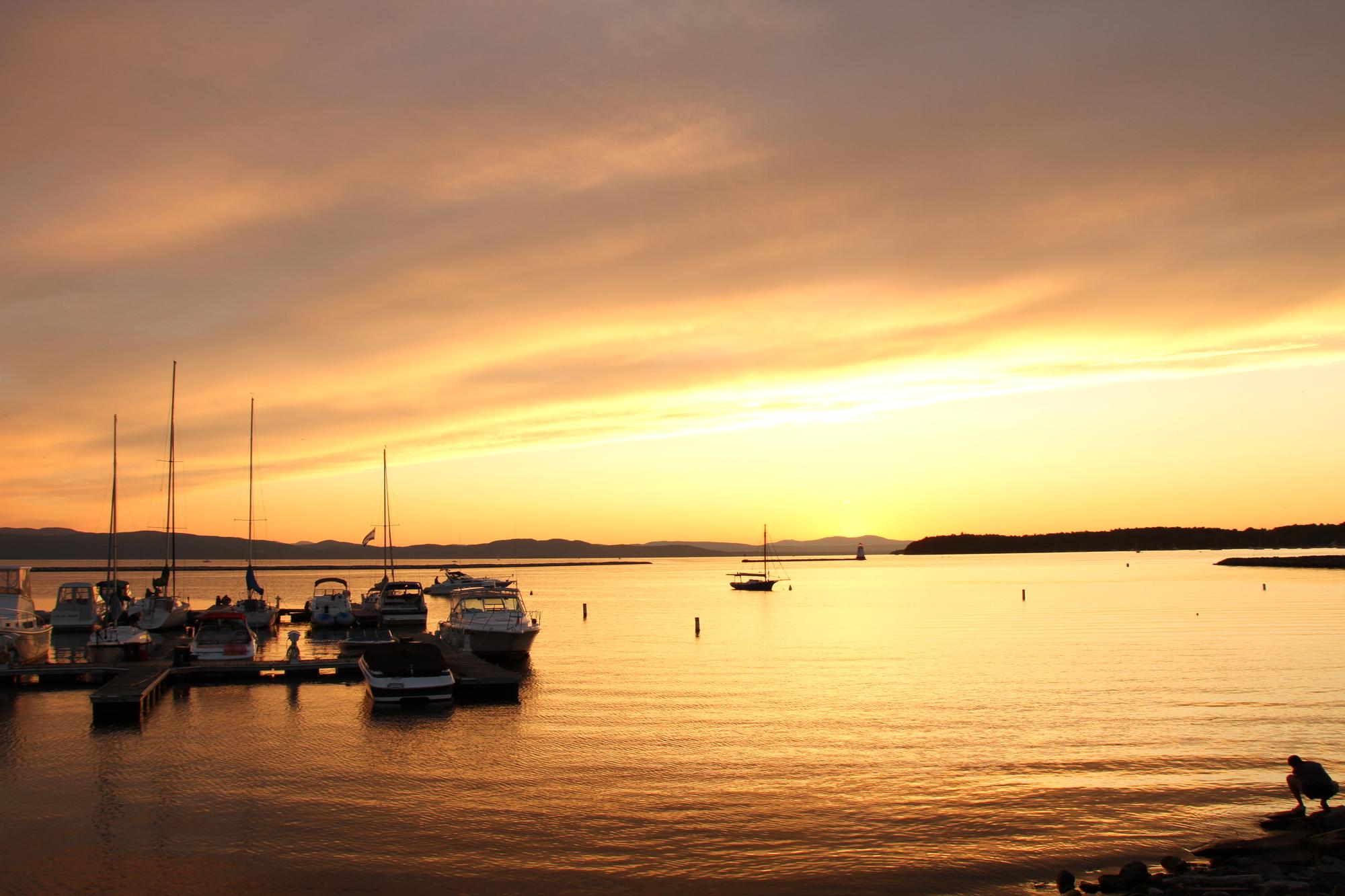 Lake Champlain Sunset The Substantially Similar Weblog